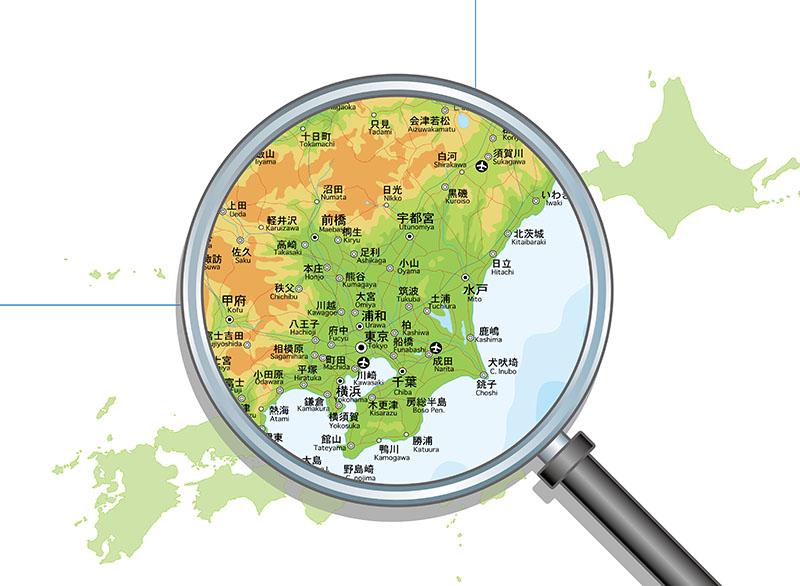 関東拡大図